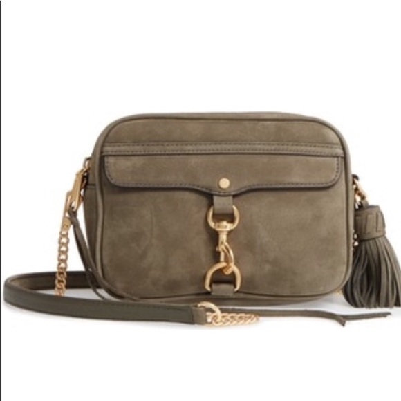 Rebecca Minkoff Large MAB Camera Bag (Olive Suede) NWT